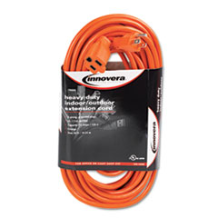 INDOOR/OUTDOOR EXTENSION CORD, 50', ORANGE