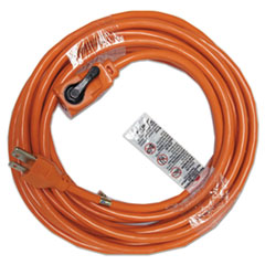 Indoor Extension Cord, Locking Plug, 25ft, Orange